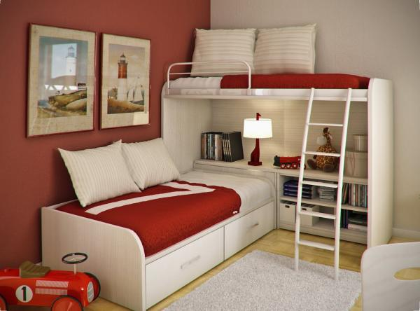 This room is suitable for both males and females. It is made up of two beds,  one of which is longitudinal and the other is on top of it.