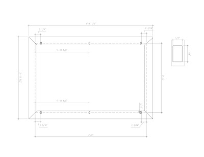 drawing autocad mirror frame plan elevation