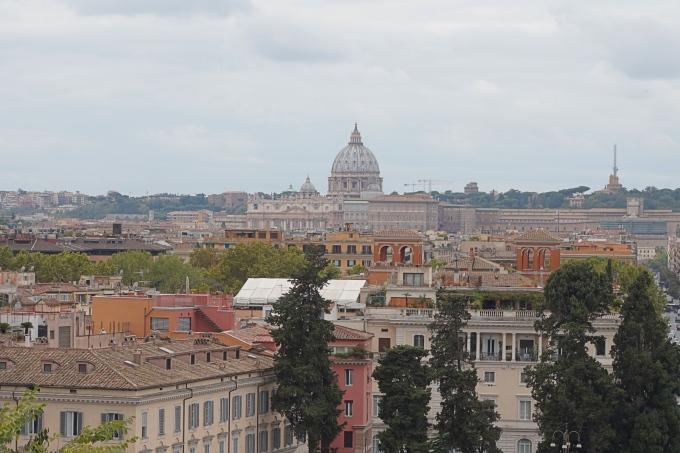 Kokemuksia Roomasta lasten kanssa - näköala Vatikaaniin Villa Borghesesta