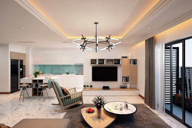 Thiết kế phòng khách tại Vincity