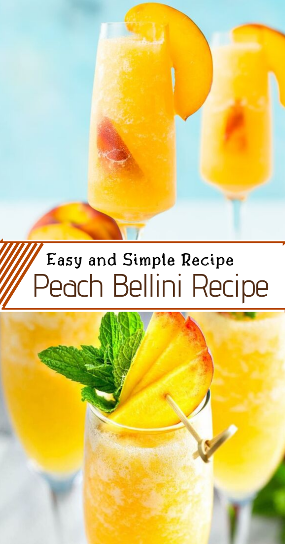 Peach Bellini Recipe #healthydrink #easyrecipe #cocktail #smoothie