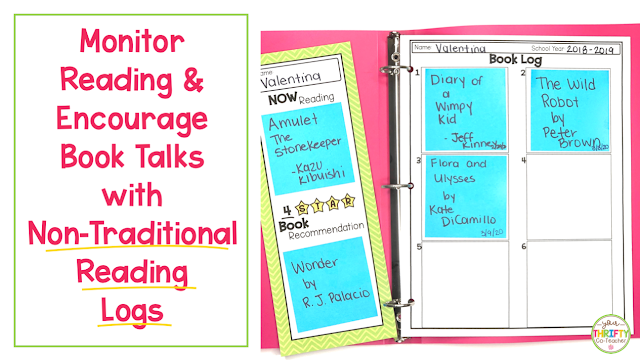 Printable reading logs can be an effective way to monitor what and how much students are reading, as well as promote book conversations amongst students.