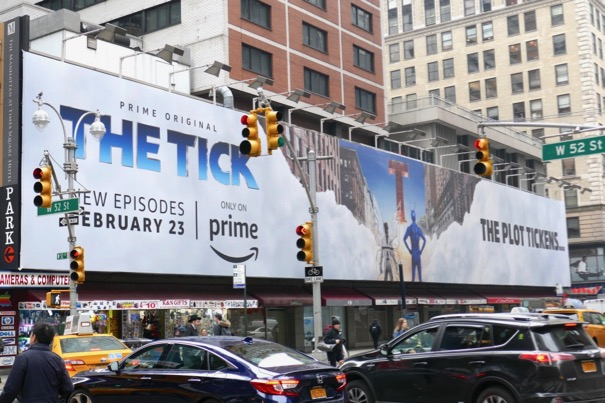 Tick season 1 part 2 billboard NYC