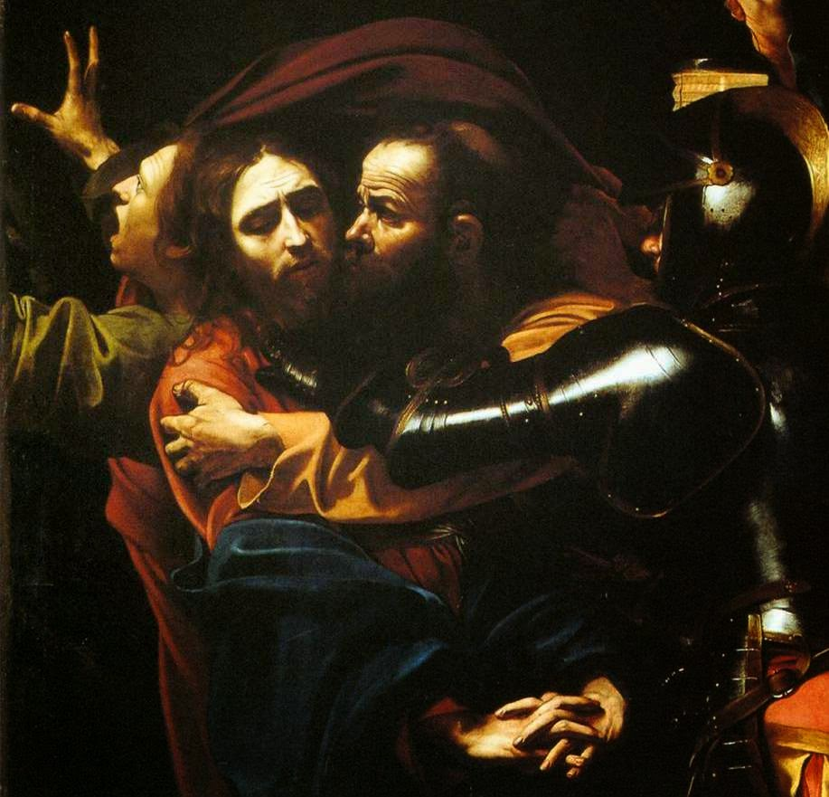 The Taking of Christ, detail, Caravaggio