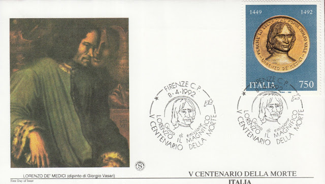 the Magnificent Lorenzo de Medici 1992 FDC.