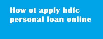 how to get personal loan status in hdfc bank