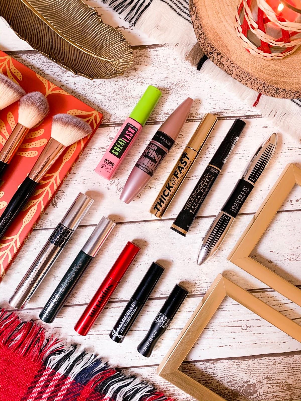 My Mascara Collection Flatlay