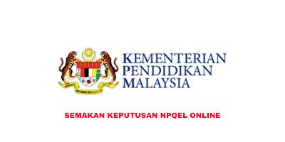 Semakan Keputusan NPQEL 2020 Online