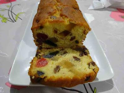 cake raisins secs fruits confits gâteau pâtisserie