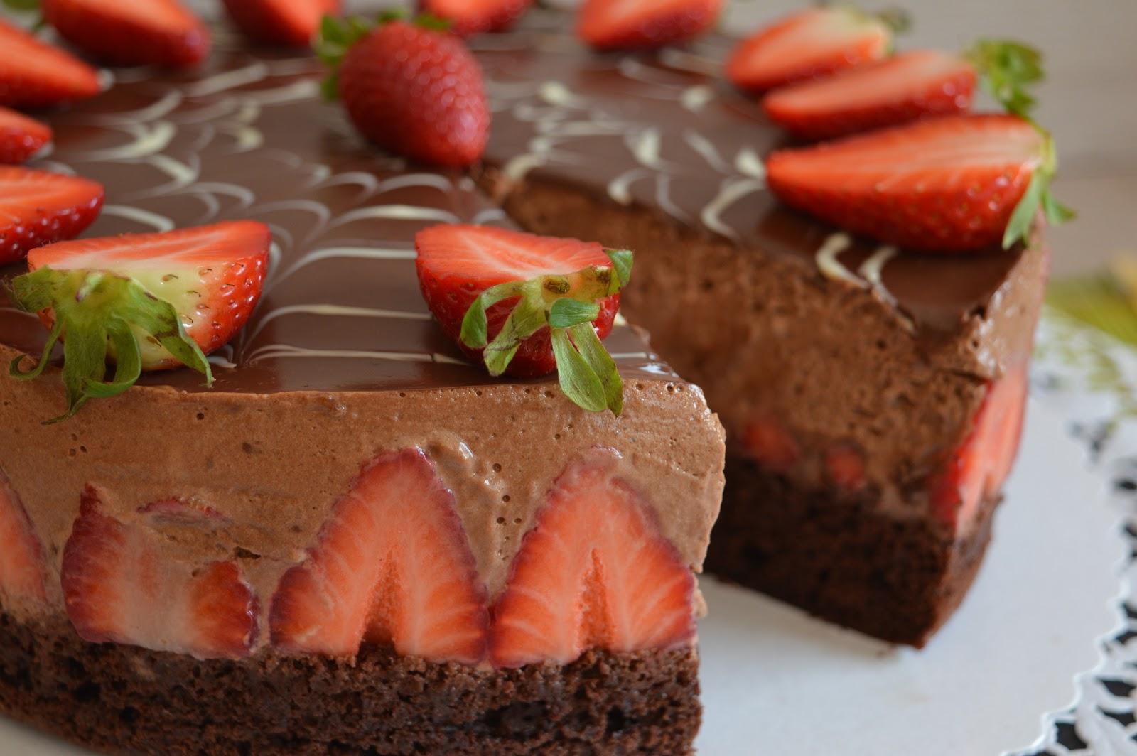 Julias Zuckersusse Kuchenwelt Schoko Erdbeer Mousse Torte