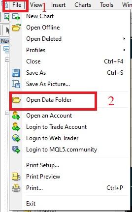 open data folder mt4 muhbalak