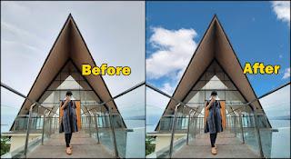 Cara Edit Foto Awan Jadi Bagus Dan Keren Sekali Klik