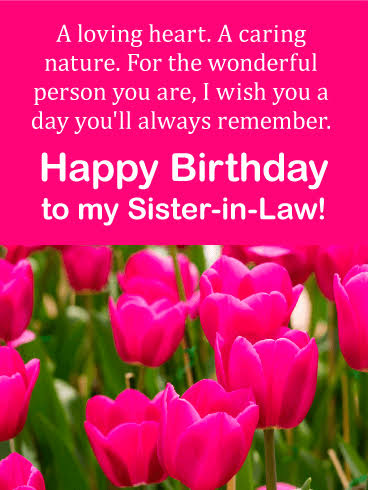Beautiful Happy Birthday Messages for Sister-in-law