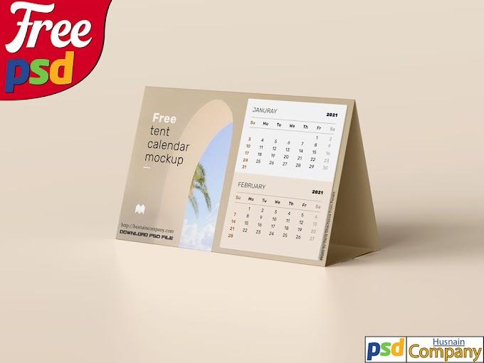 Download Free Calendar PSD Mockup #3