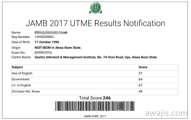 JAMB 2018 result checker