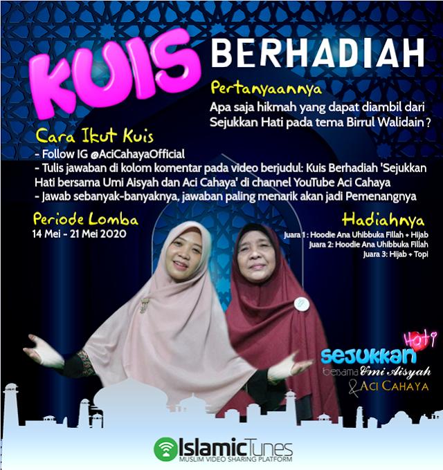 Sejukan Hati, Aci Cahaya Official Gelar Kuis Berhadiah Tausiyah Umi Aisyah