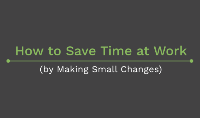 Baby steps towards saving time