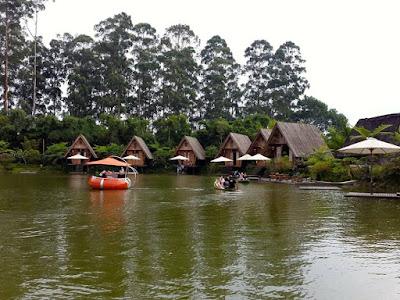 Boat ride at Dusun Bambu Lake Bandung