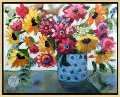 Dressed to Impress Floral Painting by Merrill Weber