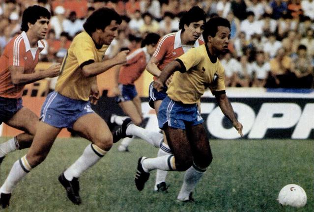 Brasil y Chile en partido amistoso, 14 de marzo de 1981