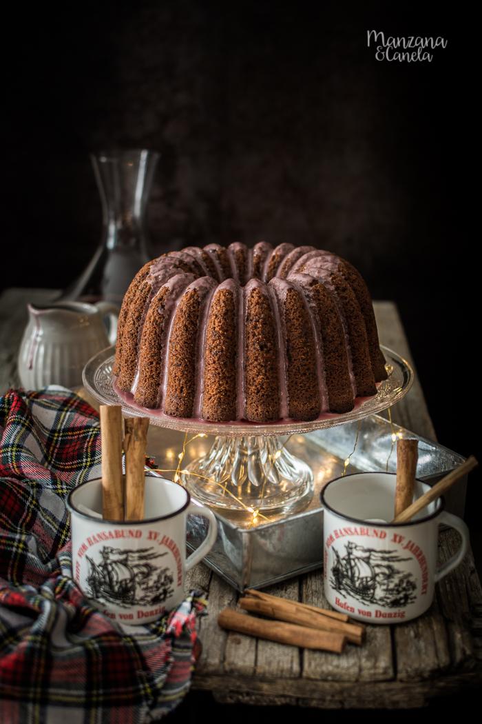 Bundt cake de Glühwein. Bizcocho de vino caliente