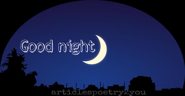 Half moon good night images
