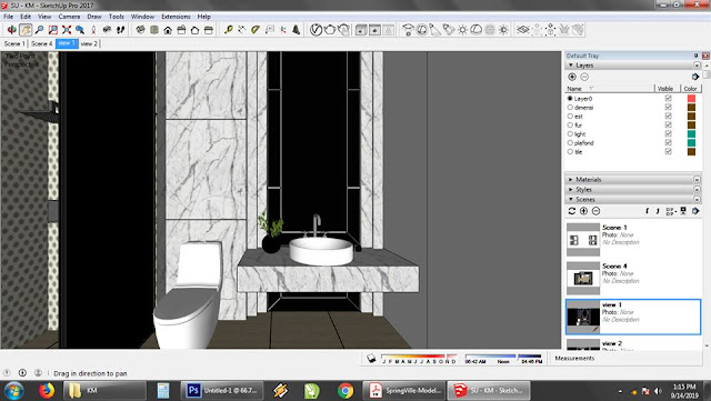 camera sketchup orthographic view two point perspektif