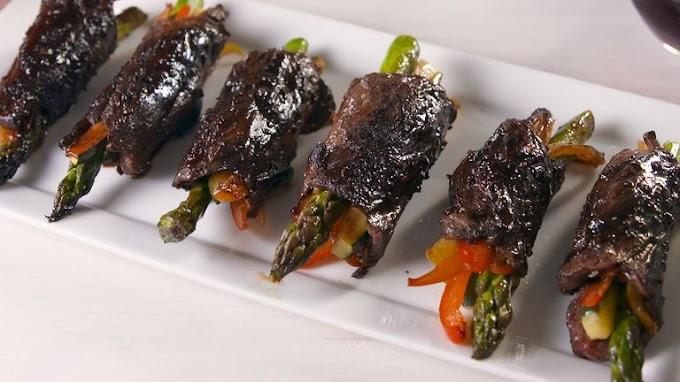 ★★★★★   Balsamic Steak Roll-Ups