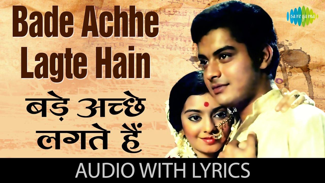 Bade Achhe Lagte Hain Lyrics in Hindi