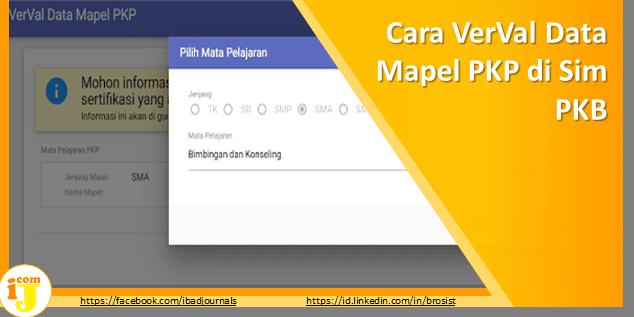 Cara VerVal Data Mapel PKP di Sim PKB