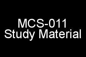 MCS-011 Study Material For IGNOU BCA and MCA