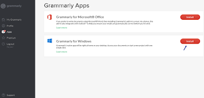 Grammarly's Native app for Windows