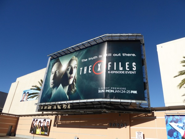 X-Files 2016 TV event billboard