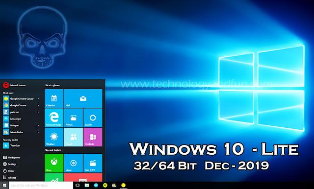 Download Free Windows 10 Lite Edition Dec-2019
