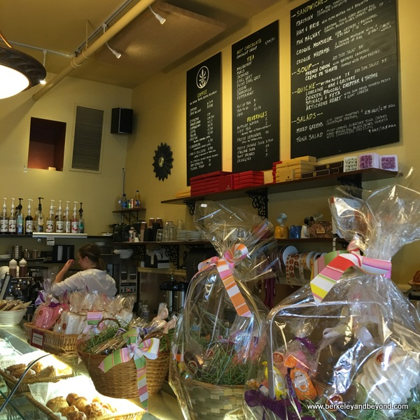 counter at Fleur de Cocoa patisserie in Los Gatos, California