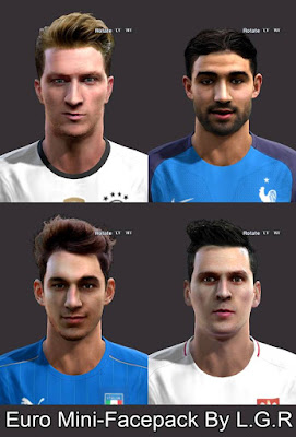 PES 2013 Euro Mini-Facepack By L.G.R Facemaker