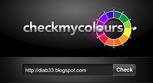 موقع Check My Colours لإختيار ألوان التصميم
