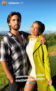 ylie Jenner and Scott Disick during Scott's 37th birthday celebration