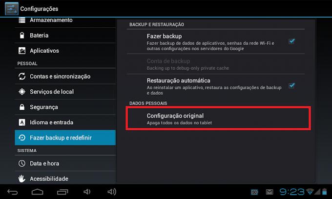 Como formatar seu celular Android, Tablet