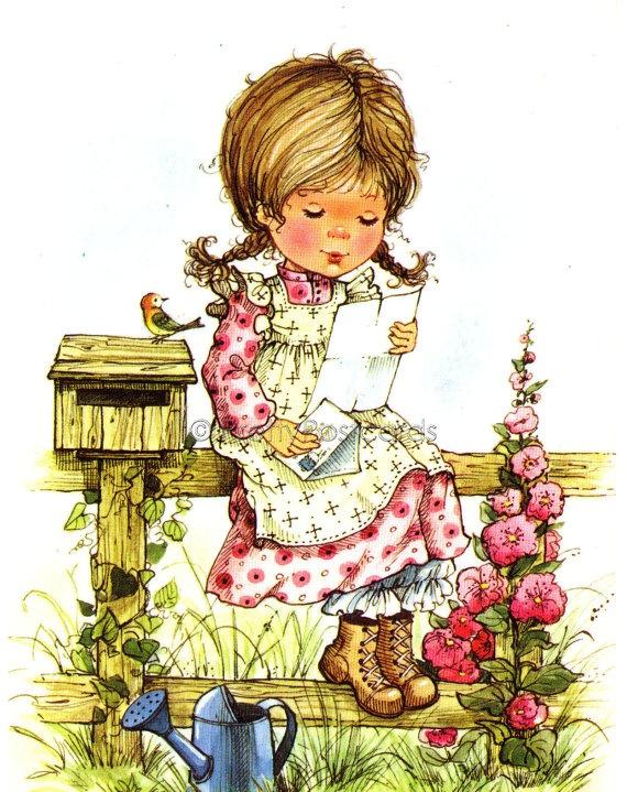 Desenho de Sarah Kay - Lendo Carta