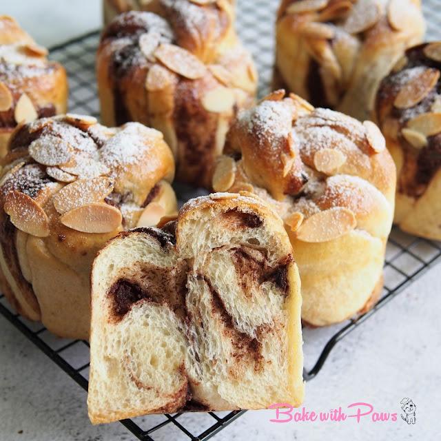 Twisted Chocolate & Cardamom Buns (Sourdough)