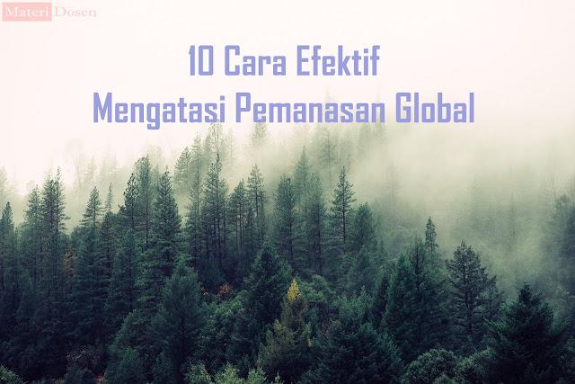 10 Cara Efektif Mengatasi Pemanasan Global