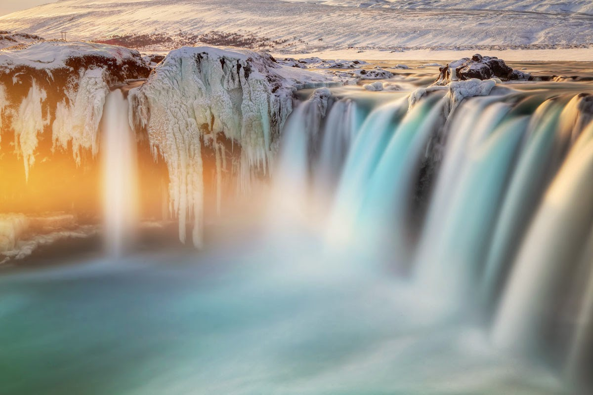8. Last Light on Godafoss, Iceland - 10 Highlights from the 2015 Nat Geo Traveler Photo Contest