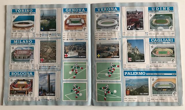 figurine stadi e città italia 90