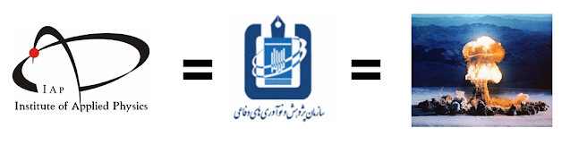Institute of Applied Physics IAP logo is Amad, Iranian nuclear weapons programme pre-2003 and precursor to Iranian Defense Innovation and Research Organization SPND front MoU Islamic Azad University Central Tehran Branch
