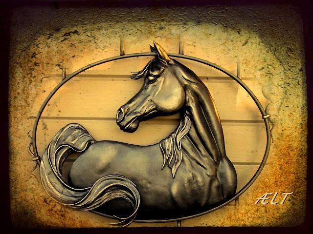 Arabian horse, metaalsculptuur, metal art, kunstsmeedwerk, paardsculptuur