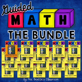 Cover image of Guided Math centers bundle.