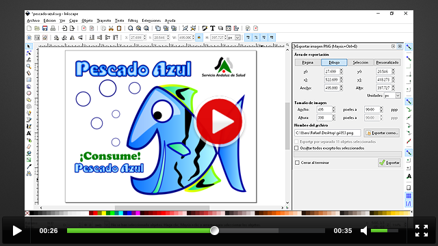 Crear imágenes para la web con inkscape