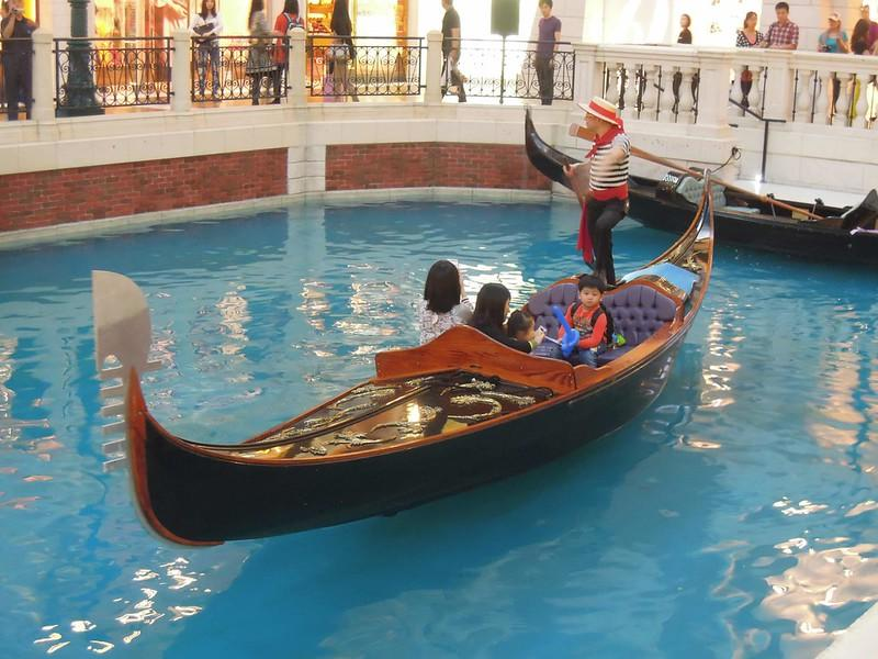 Gondola at The Venetian Macao Resort Hotel