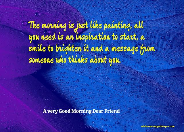 good morning dear friend